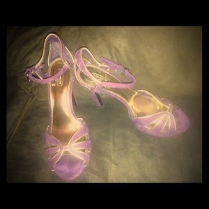 Coach size 9.5 shade purple and gold high heels